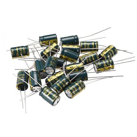 Aluminum Radial Electrolytic Capacitor 470uF 25V Life 8 x 12 mm 20pcs