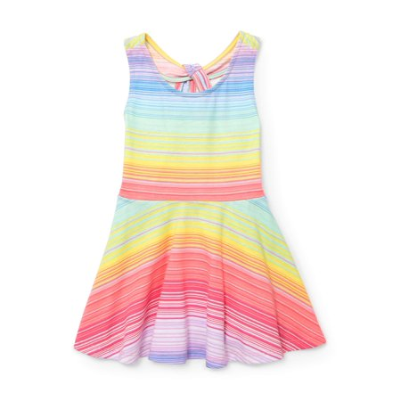 Children's Place Toddler Girls' Neon Striped Tank Dress