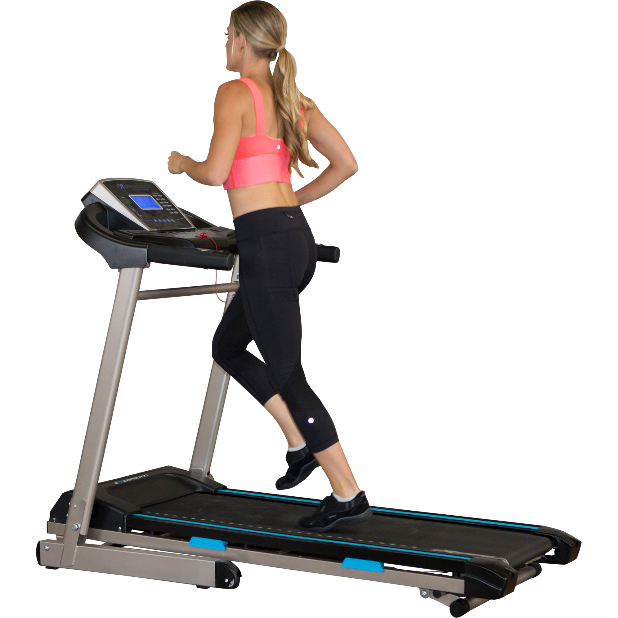 EXERPEUTIC TF3000 Bluetooth Smart Technology Electric Foldable Treadmill with Free App and Extended Belt Size