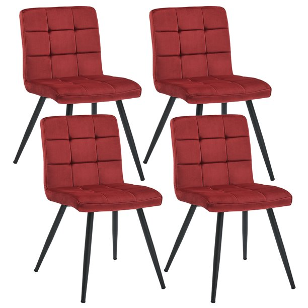 Duhome Velvet Upholstered Dining Chairs, Modern Rust Furniture