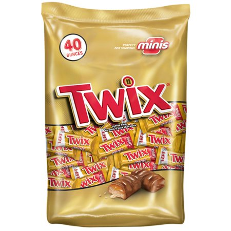 Twix, Caramel Minis Size Chocolate Cookie Candy Bar, 40 Oz