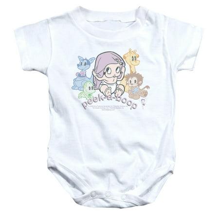 Betty Boop Cartoon Peek A Boo Baby Infant Romper Snapsuit