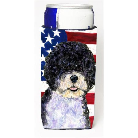 Usa American Flag With Portuguese Water Dog Michelob Ultra bottle sleeve for Slim Can - image 1 of 1