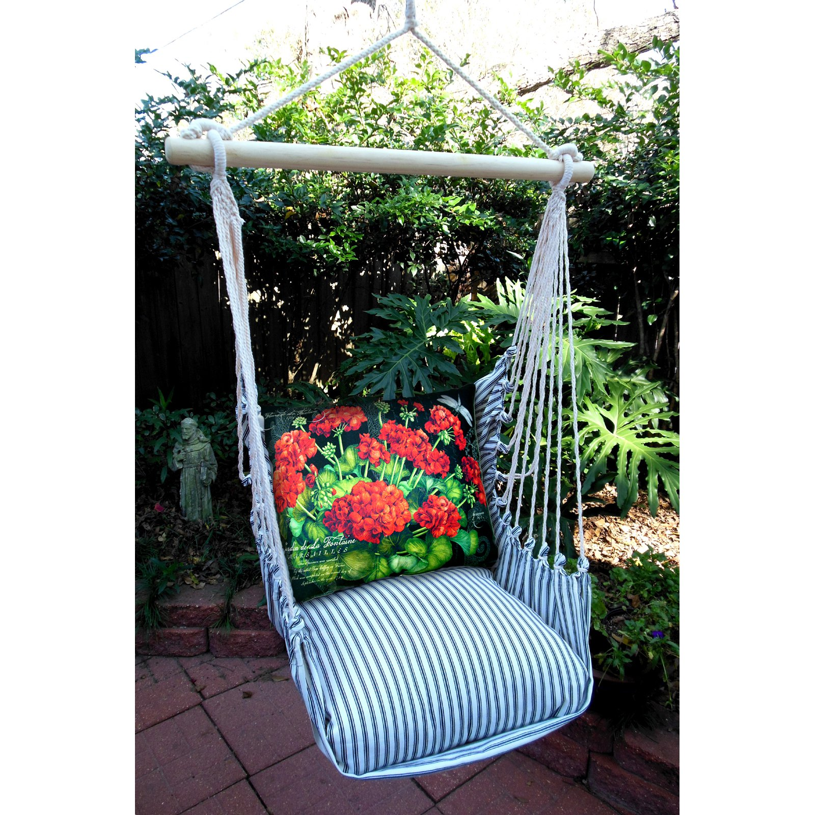 Magnolia Casual Daisy Patch Hammock Chair & Pillow Set
