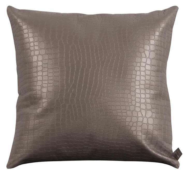 Gator Pillow in Pewter