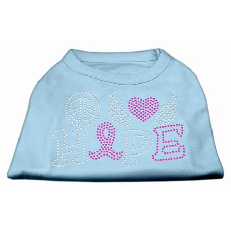 Mirage 52-97 SMBBL Love Hope Breast Cancer Rhinestone Pet Shirt Baby Blue Sm for $<!---->
