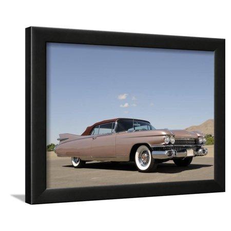 1959 Cadillac Eldorado Convertible Framed Print Wall Art By S. Clay