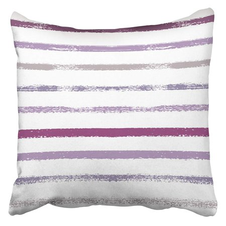ARHOME Sailor Stripes Summer Autumn Colors Blue Turquoise Pink Purple Grey White Hipster Pillow Case Cushion Cover 16x16 inch](Purple And Turquoise)
