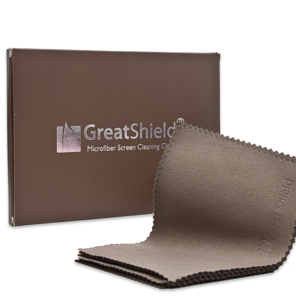 "GreatShield Luxury Microfiber Cleaning Cloths 5.5"" x 4"" inch (10 Pack) for Eyeglass, Digital Video Camera Lens, Laptop, Plasma, TV, PC, Monitor Screen, Smartphone, Tablet, Watch, Jewelry"