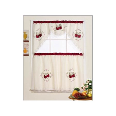 Rt Designer 39 S Collection Jubilee Red Apple Kitchen Curtain