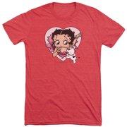 Betty Boop I Love Betty Mens Tri-Blend Short Sleeve Shirt