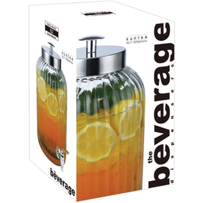 EuroHome 2184286 Sun Tea Beverage Dispenser, Glass