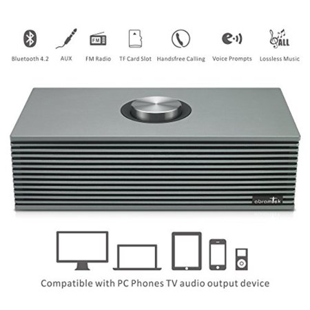 Abramtek Wireless Bluetooth Speakers, Metal Bluetooth Speaker with