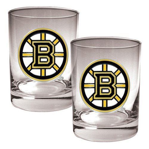 Great American NHL Logo Rocks Glass Set