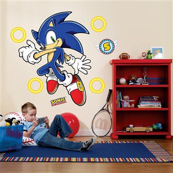 Sonic The Hedgehog Giant Wall Decals Walmart Com Walmart Com