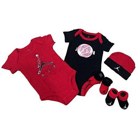 Nike Michael Jordan Infant Layette 5 Pcs Sets Bodysuit Cap and Booties