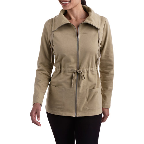 White Stag Women's French Terry Zip Up Anorak Jacket
