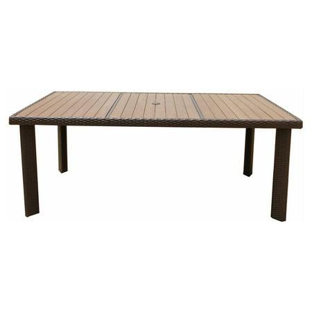 JJ Designs South Beach Wicker Rectangular Plywood Top Dining Table South Beach 40 Dining Table