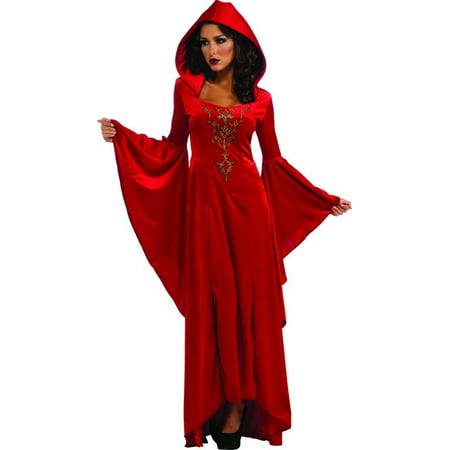 Medival Dresses (Medieval Scarlett Red Hooded Dress Costume)