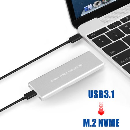 EEEKit NVMe PCIE USB3.1 HDD Enclosure M.2 to USB Type C 3.1 Hard Disk Drive Case Support System WinXP/Vista/Win7/Win8/WIN10