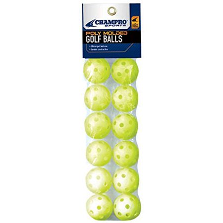 Golf Ball Size PolyBall with Header (Optic Yellow, 5-Inch), 12 piece By