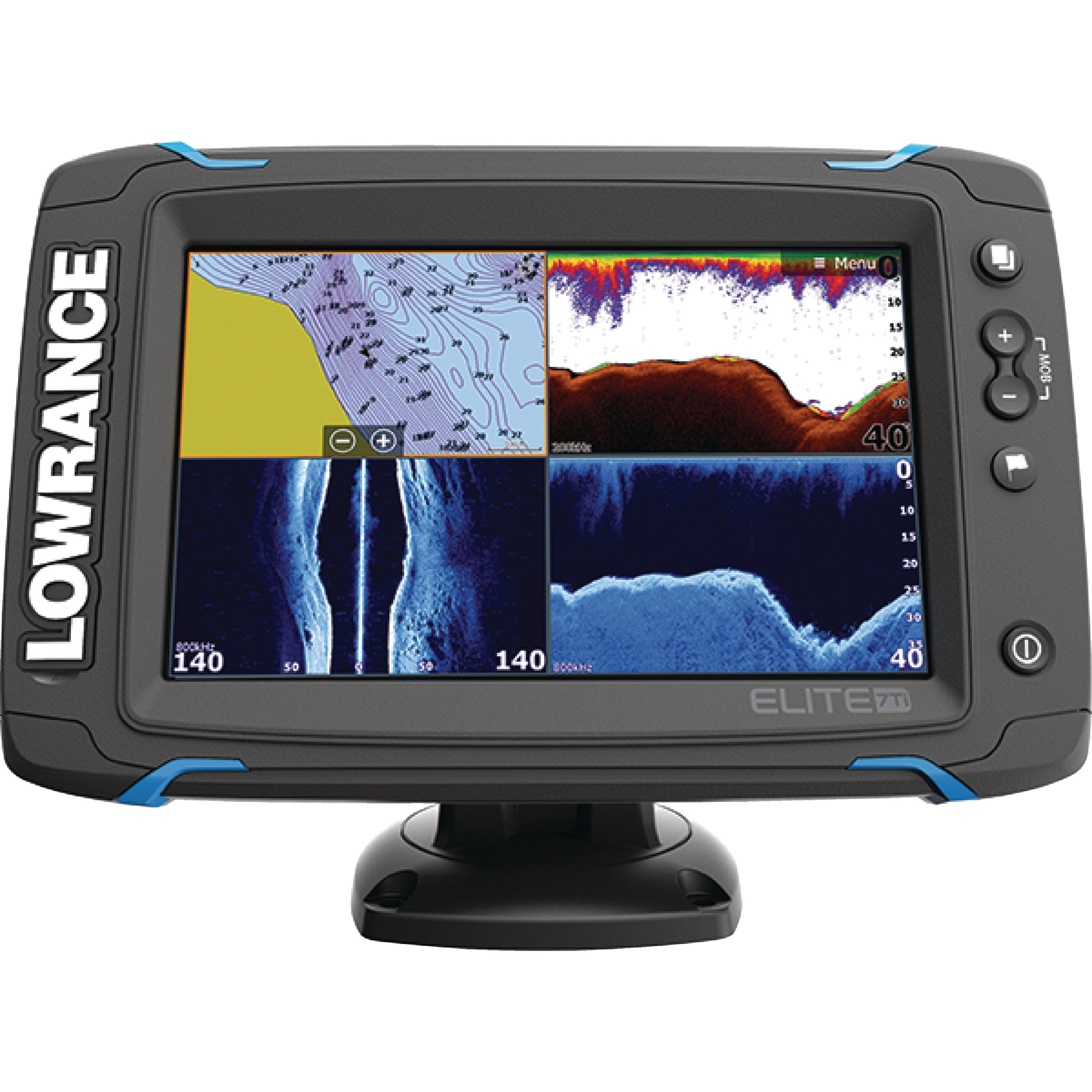 "Lowrance 000-12417-001 Elite-7Ti Touchscreen Fishfinder & Chartplotter with CHIRP Sonar, GPS, DownScan Imaging, Hybrid Dual Imaging, & 7"" Display"