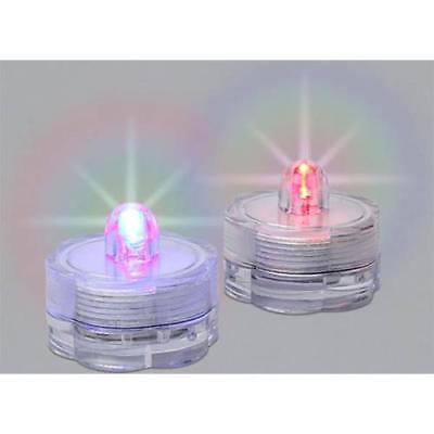 Everlasting Glow Submersible Water LED Tea Lights Multi Colored, Pack of 2, 2 Pk](Multi Colored Led Tea Lights)