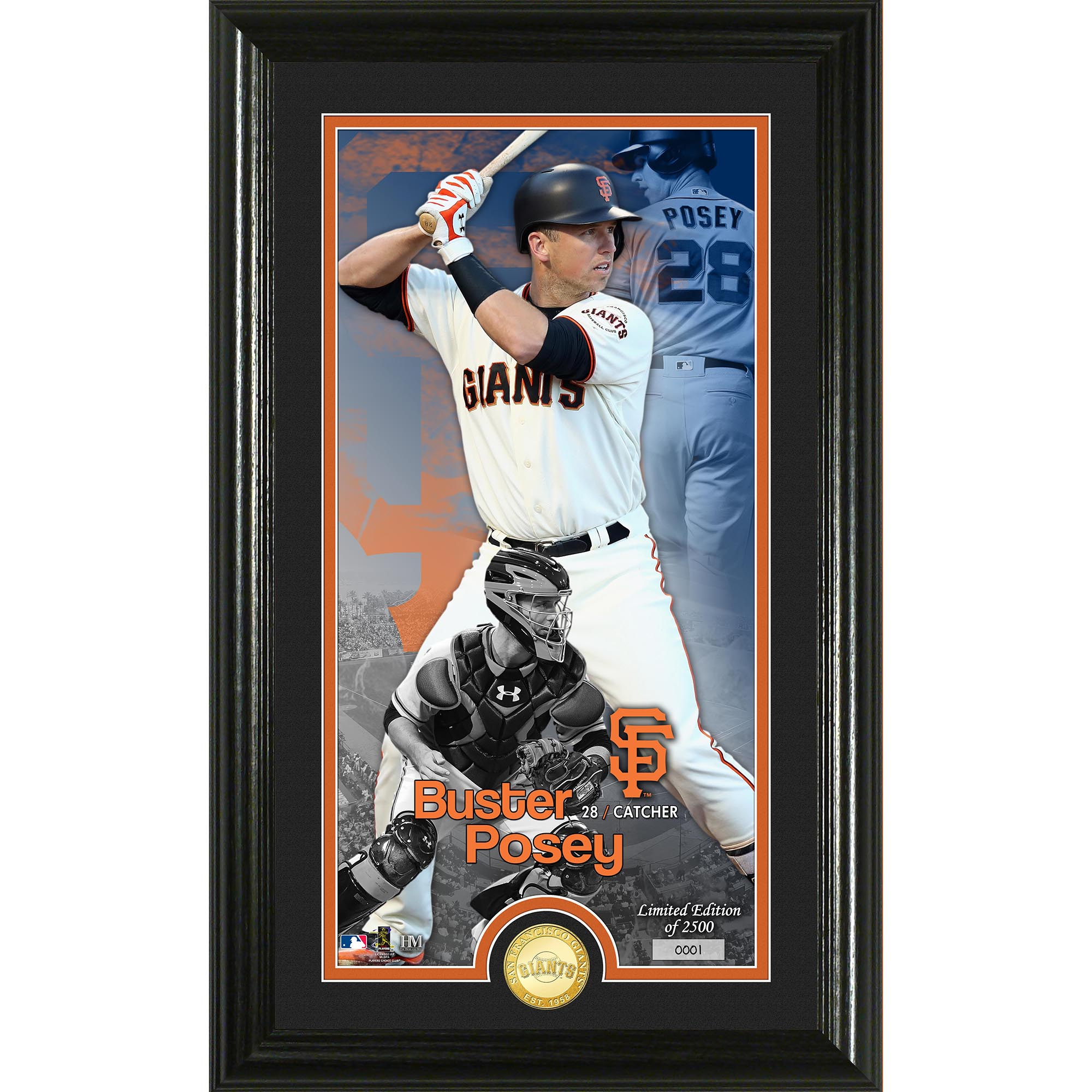 "Buster Posey San Francisco Giants Highland Mint 12"" x 20"" Player Supreme Photo Mint - No Size"