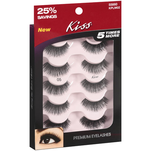 Kiss 05 Premium Eyelashes, 5 pair