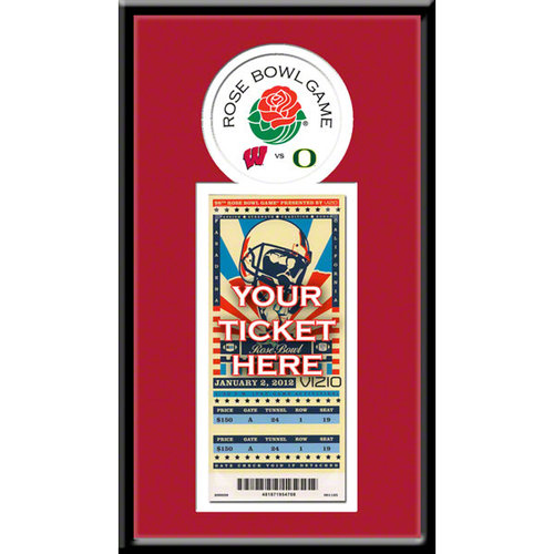 2012 Rose Bowl Single Ticket Frame - Wisconsin Badgers Wisconsin Badgers TF1CWISRB12
