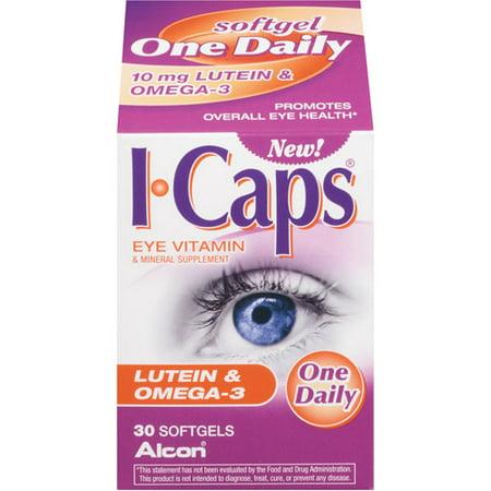 I-Caps Lutein & Omega-3 Eye Vitamin Softgels, 10 Mg, 30 Ct Turtle Eye Vitamins