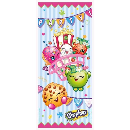 Plastic Shopkins Door Poster Party Decoration, 60 x 27 in, 1ct - Circus Door Decorations