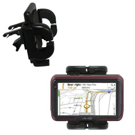 Gomadic Air Vent Clip Based Cradle Holder Car / Auto Mount suitable for the  Mio Moov S401 - Lifetime Warranty