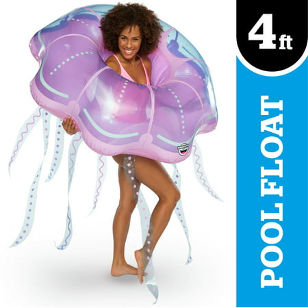 Mermaid Pool Float (BigMouth Inc. Giant Inflatable XL Jellyfish Pool Float, Patch Kit)
