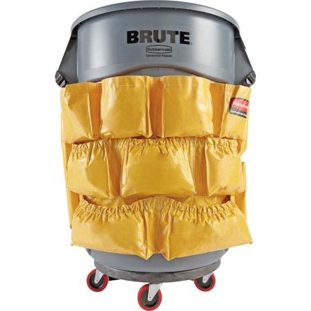 Brute Rim Caddy (Rubbermaid Commercial, RCP264200YW, Brute Utility Container Caddy Bag, 1 Each, Yellow )