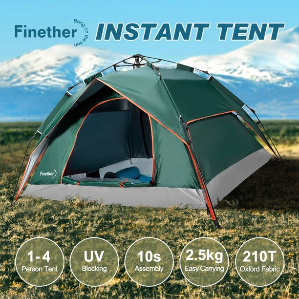 Pop Up Tents For Camping 3 4 Person Automatic Setup 2