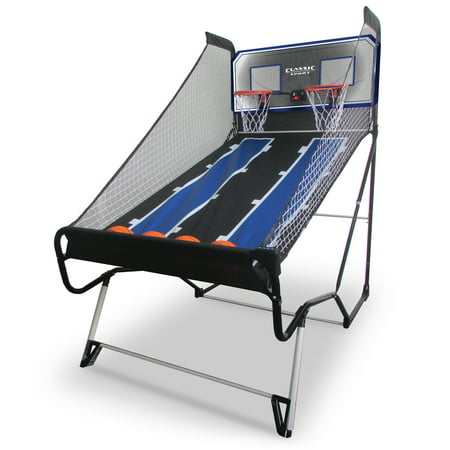 """Classic Sport Stop & Pop Basketball Shootout Game, Dimensions: 81"""" Long x 47.5"""" Wide x 81"""" High"""