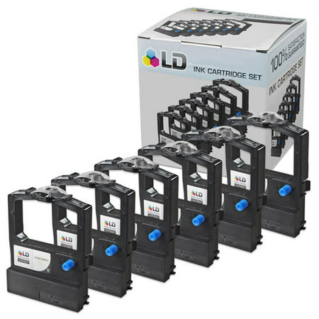 LD Okidata Compatible Replacement 6 Pack Black Printer Ribbon Cartridges - 52106001 Black 5095 Resin Printer Ribbon