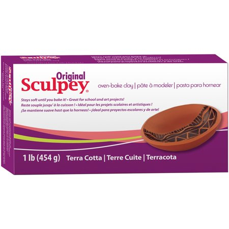 Sculpey Original Oven Bake Terra Cotta Clay 1
