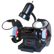 """ATD Tools 6"""" 1/2 Horsepower Bench Grinder with Light 10556"""