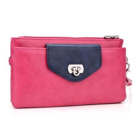 - Wristlet smartphone wallet clutch in Pink 6.4