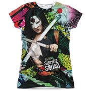 Suicide Squad Katana Psychedelic Cartoon (FB Print) Juniors Sublimation Shirt