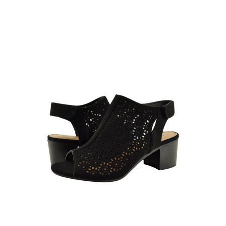City Classified Elect S Women's Peep Toe Cut Out Ankle Bootie ()