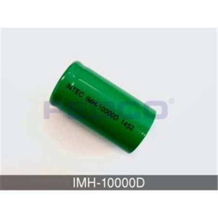 Intec Imh 10000D Flat Top D Nickel Metal Hydride Cell For Consumer   Industrial Applications  44  Green