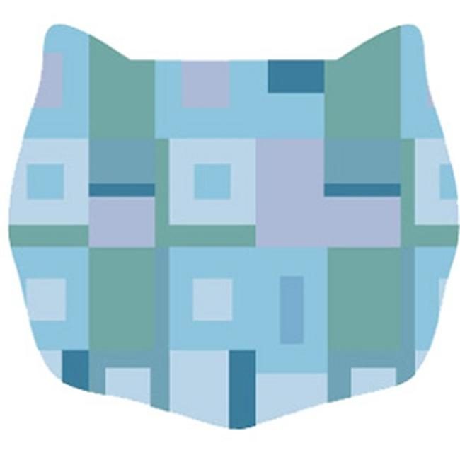 Cats Rule 00676 Small Space Mat - Blue Square