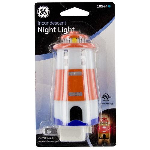 Jasco Incandescent Lighthouse Night Light
