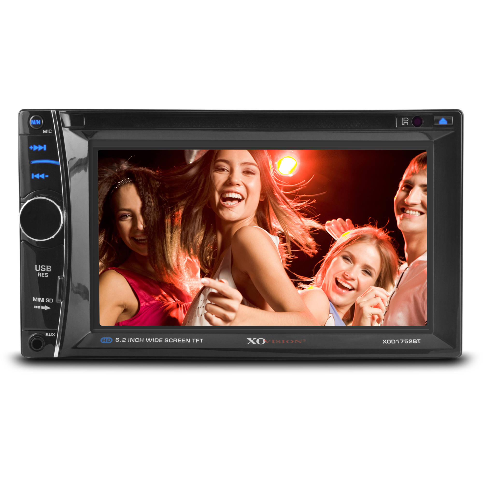 "XO Vision XOD1752BT In-Dash 6.2"" Touch Screen Multimedia DVD Receiver with Bluetooth"