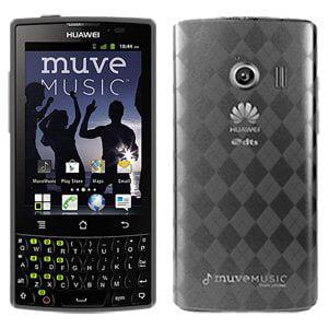 Premium Designer High Gloss TPU Soft Gel Skin Case for Huawei Ascend Q M660, Cricket Huawei Ascend Q M660 - Smoke Grey