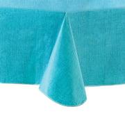"""Mainstays Linen Print Vinyl Tablecloth, Teal, 60""""x102"""""""