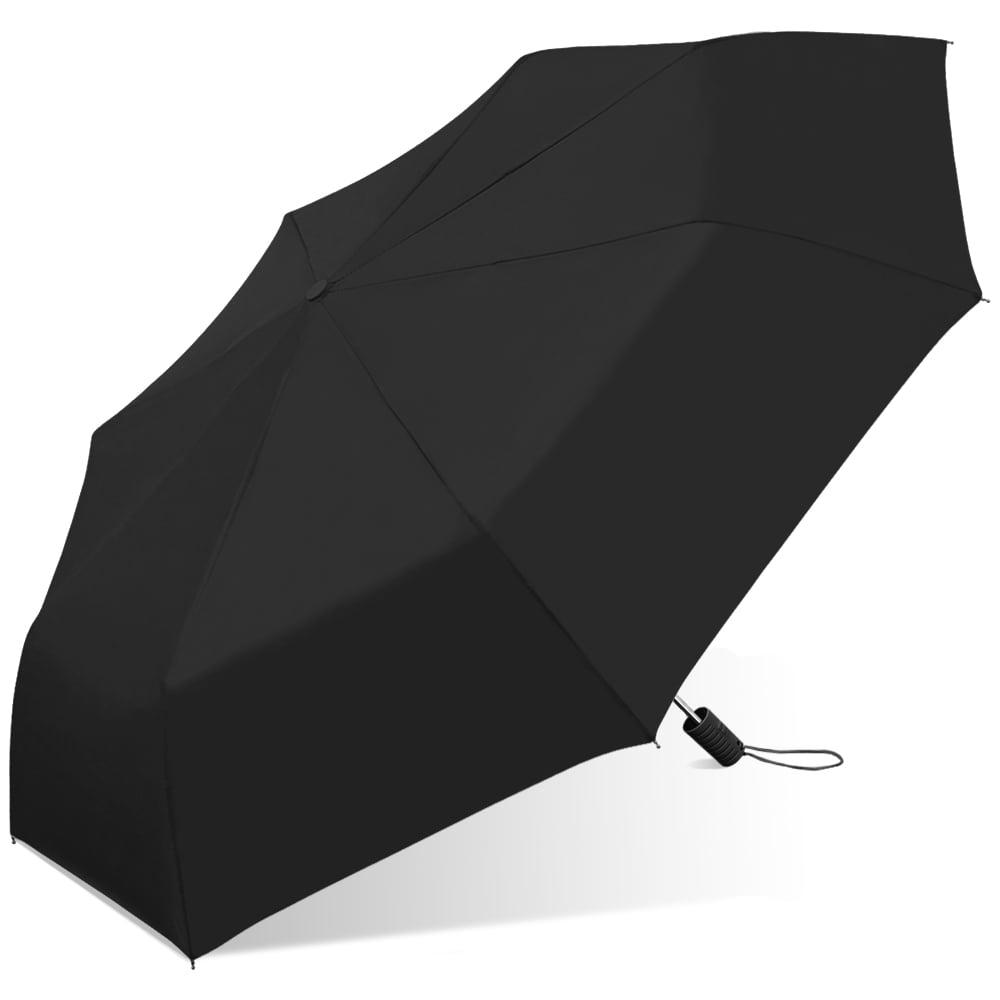 Chaby International Black Automatic Umbrella 42 IN AUTOFOLD UMBRELLA